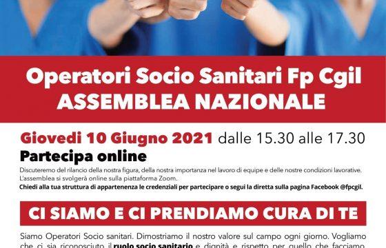 Fp Cgil, 10 giugno assemblea nazionale Operatori Socio Sanitari