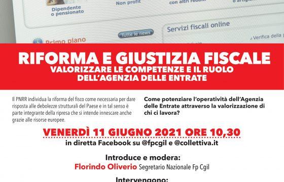 Fisco: Fp Cgil, 11 giugno iniziativa su Agenzia delle Entrate