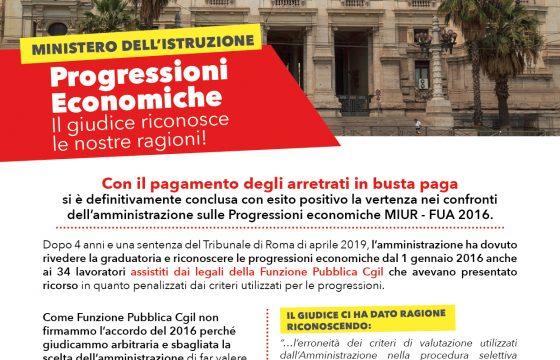 MIUR – Volantino – Progressioni Economiche 2016