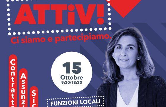 Ci siamo e partecipiamo, 15 ottobre l'Attivo Delegati e Rsu Funzioni Locali