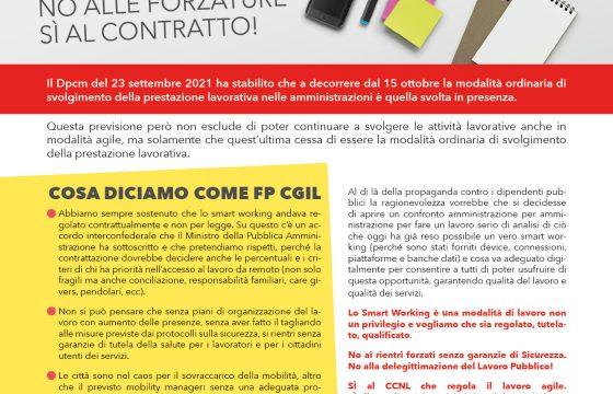 Smart Working nella Pa: no alle forzature, sì al contratto